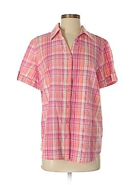 Erika Short Sleeve Button-Down Shirt Size M