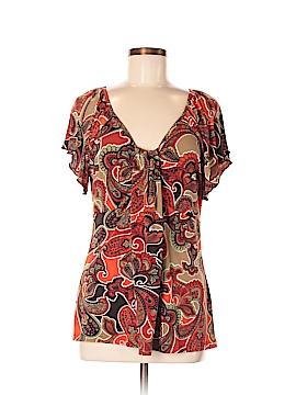 Carole Little Short Sleeve Blouse Size M