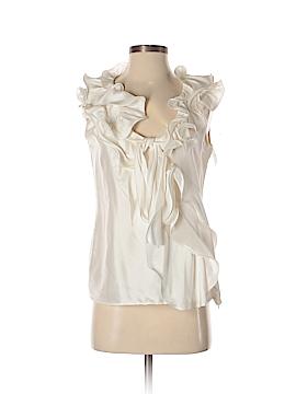 Oscar De La Renta Sleeveless Silk Top Size 4