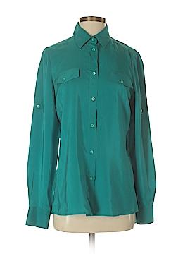 Loro Piana Long Sleeve Silk Top Size 10