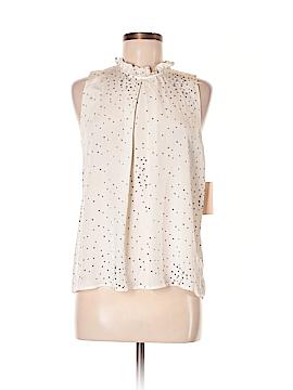 Aqua Sleeveless Silk Top Size M