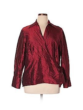 Sunny Leigh Long Sleeve Silk Top Size 20w (Plus)