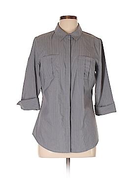 Worthington 3/4 Sleeve Button-Down Shirt Size L