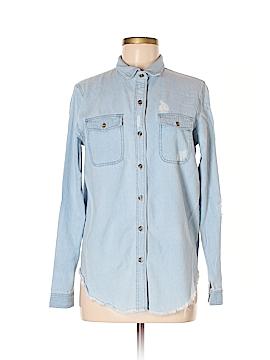 Honey Punch Long Sleeve Button-Down Shirt Size S