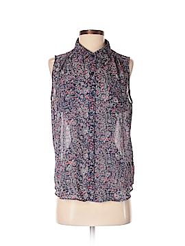 AB Studio Sleeveless Button-Down Shirt Size S
