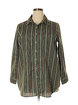 Roaman's 3/4 Sleeve Button-Down Shirt Size 18 (L) (Plus)