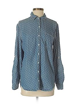 SNEAK PEEK Long Sleeve Button-Down Shirt Size M