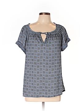 Caslon Short Sleeve Blouse Size L