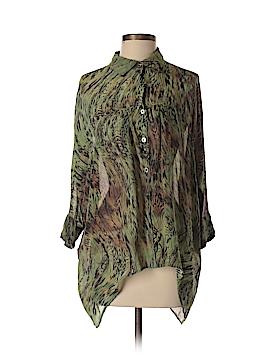 Da-Nang 3/4 Sleeve Silk Top Size Med - Lg
