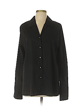 St. John Sport Long Sleeve Button-Down Shirt Size L
