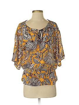 Trina Turk Short Sleeve Silk Top Size P