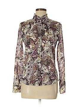 Peck & Peck Long Sleeve Button-Down Shirt Size 6