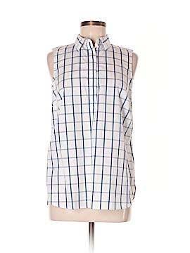 Lands' End Sleeveless Button-Down Shirt Size 8 (Petite)