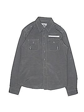 Swiss Cross Long Sleeve Button-Down Shirt Size 14 - 16