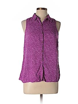Splendid Sleeveless Button-Down Shirt Size L