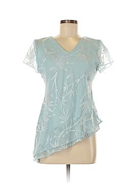 Jessica Howard Short Sleeve Blouse Size 8 (Petite)