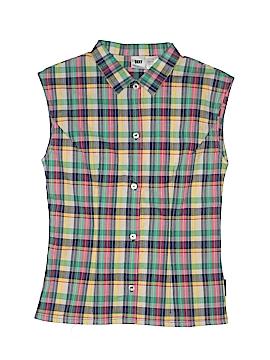 DKNY Sleeveless Button-Down Shirt Size 12