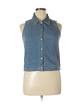 Gap Sleeveless Button-Down Shirt Size XL