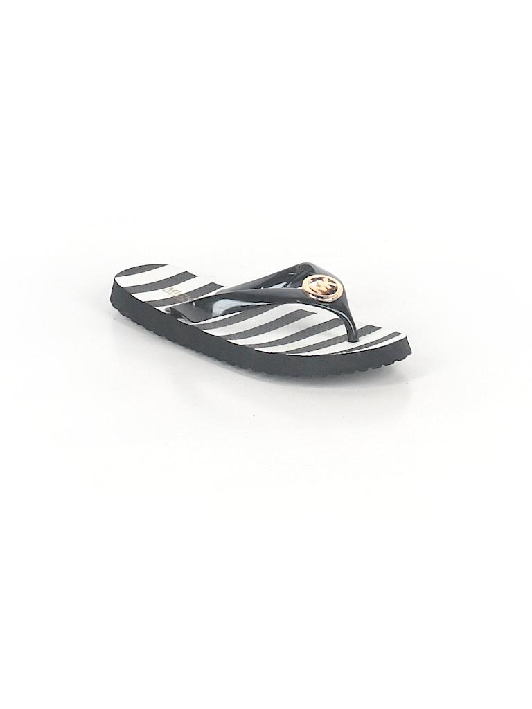 ef898d3e5f74 MICHAEL Michael Kors Stripes Graphic Black Flip Flops Size 6 - 71 ...