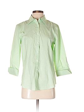 KIRKLAND Signature 3/4 Sleeve Button-Down Shirt Size S