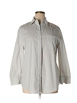 BCBGMAXAZRIA 3/4 Sleeve Button-Down Shirt Size L