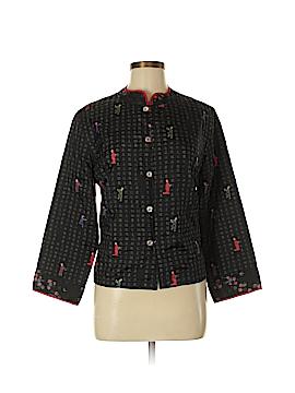 Chico's Design Short Sleeve Silk Top Size Med (1)