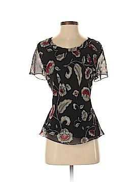 Jones New York Collection Short Sleeve Silk Top Size S