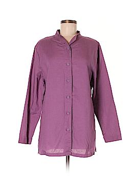 Cervelle Long Sleeve Button-Down Shirt Size M