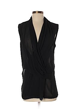 Helmut Lang Short Sleeve Silk Top Size S