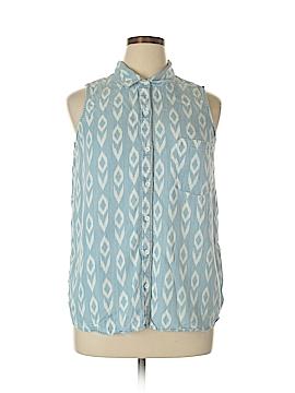 Banana Republic Factory Store Sleeveless Button-Down Shirt Size XL