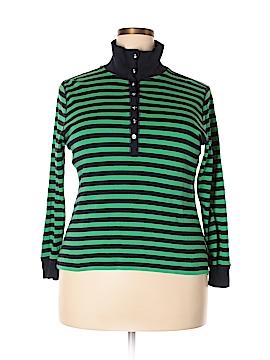 Chaps Long Sleeve Polo Size 2X (Plus)