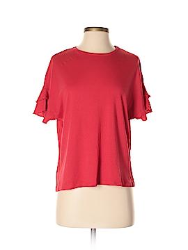 Basic Style Short Sleeve Top Size S