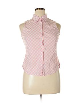 Tommy Hilfiger Sleeveless Button-Down Shirt Size 14