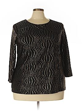 JM Collection 3/4 Sleeve Blouse Size 3X (Plus)