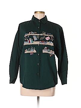 Paul Harris Design Long Sleeve Button-Down Shirt Size M
