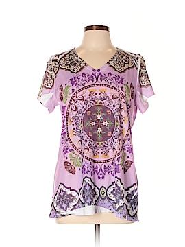 Carole Little Short Sleeve Top Size L