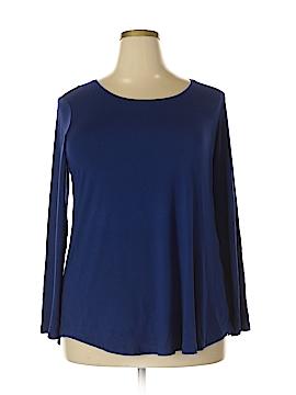 JM Collection Long Sleeve T-Shirt Size 1X (Plus)