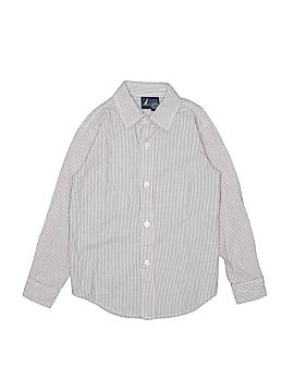 Nautica Short Sleeve Button-Down Shirt Size X-Large (Kids)