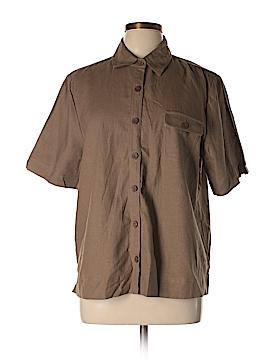 Appleseeds Short Sleeve Button-Down Shirt Size 14