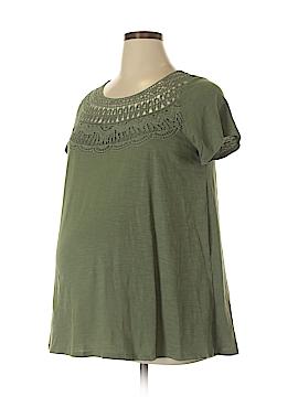 Liz Lange Maternity for Target Short Sleeve Top Size L (Maternity)