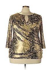 INC International Concepts Women 3/4 Sleeve Top Size 2X (Plus)
