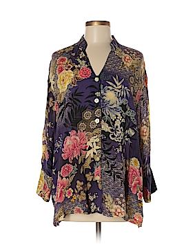 Tianello Long Sleeve Blouse Size M