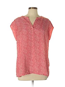 Hilary Radley Short Sleeve Blouse Size L