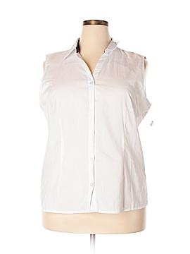 Basic Editions Sleeveless Button-Down Shirt Size XXL