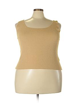 Linda Allard Ellen Tracy Sleeveless Silk Top Size 2X (Plus)