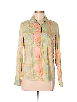 So Blue Sigrid Olsen Long Sleeve Button-Down Shirt Size M