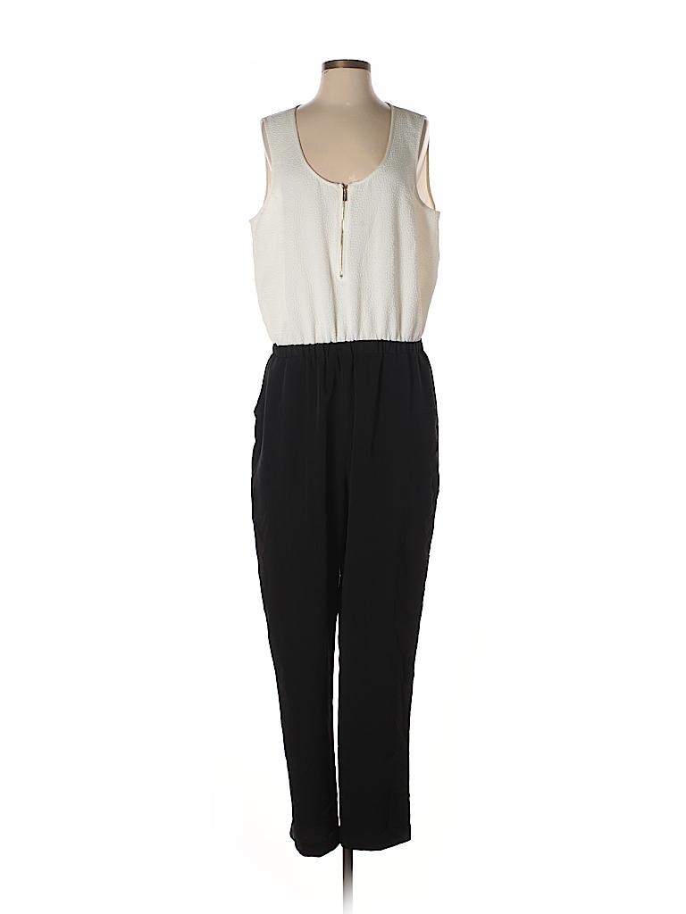 52724a9409f9 Calvin Klein Color Block Black Jumpsuit Size 14 - 52% off