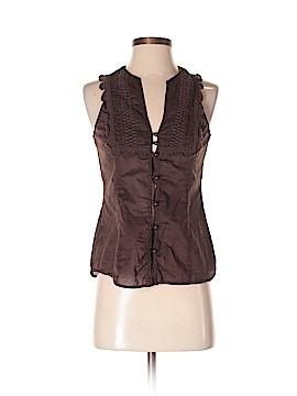 Heart Soul Sleeveless Button-Down Shirt Size S