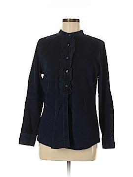 Lands' End Long Sleeve Button-Down Shirt Size M (Petite)