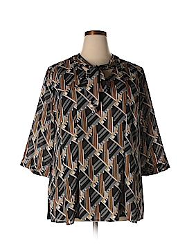 Dana Buchman 3/4 Sleeve Blouse Size 2X (Plus)